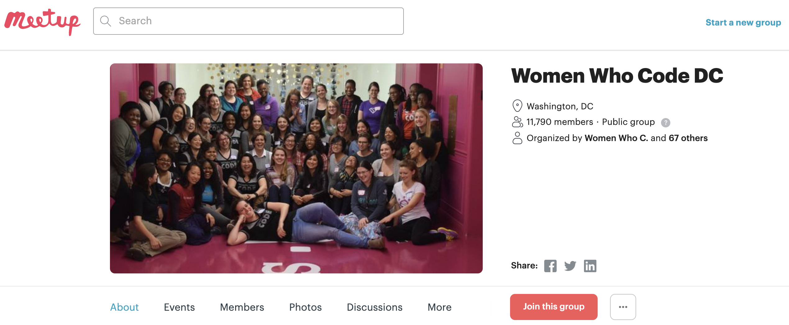 Women Who Code DC Front End Hack Night