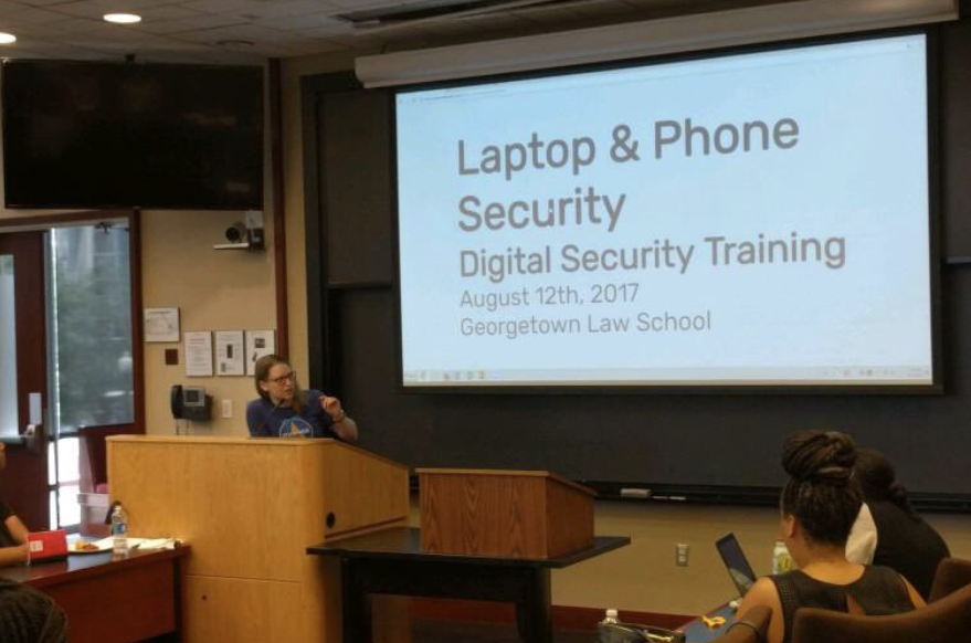 Device security training at Georgetown Law